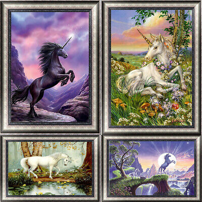 Art Unicorn DIY 5D Diamond Paint Kitten Cross Stitch Kit Home Decor