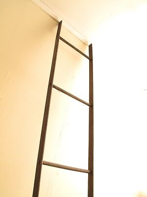 Vtg Antique Fire Escape Ladder Wrought Iron Arch. Salvage Industrial Table Top