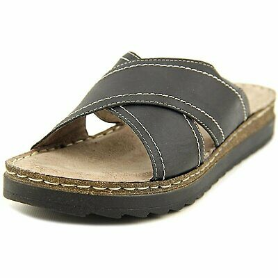 96f6bd9a5787 BELLA VITA WOMENS Fasano Leather Open Toe Beach Slide Sandals
