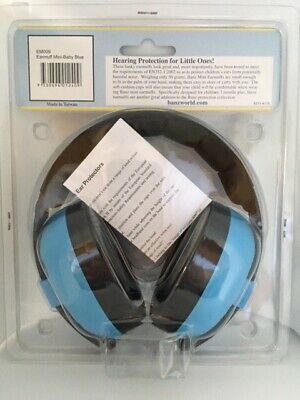 BABY BANZ Blue - BABY MINI EARMUFFS EAR DEFENDERS FIREWORKS 3 months +