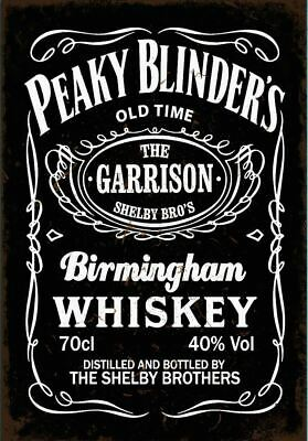 A3 A4 Size - Peaky Blinders Whiskey Old Vintage Poster