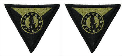 2 Pack Army National Guard Training Center OCP Hook Back Military Patches
