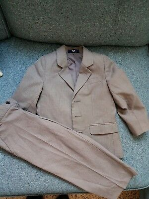 Boys Suit - Jacket and Trousers Combination Age 3 Grey Duck and Dodge