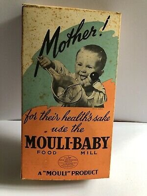 Vintage Mouli-Baby Food Mill Still in Box