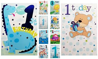 Happy 1st Birthday Boy.1st Birthday Boy Card Age 1 Boy Birthday Card Cute Happy