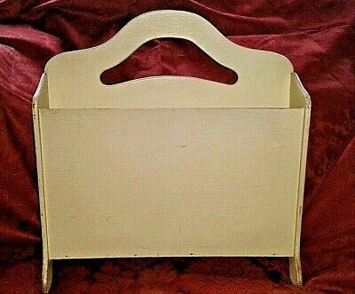 Vintage Wooden, Cream-painted, Magazine/Storage Rack, by 'HAXYES' - British Made