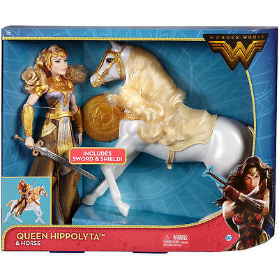 "DC Comics Wonder Woman Queen Hippolyta Doll with Horse  1/6 figure 12"" NEW!"