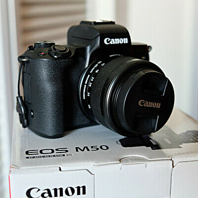 ** Canon EOS M50 24.1MP Mirrorless Camera Body with 3 lenses and lens adapter **