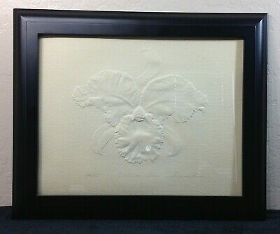 """Suzanne Thomas Embossed Print, signed and numbered, """"Cattleya Whitae"""""""
