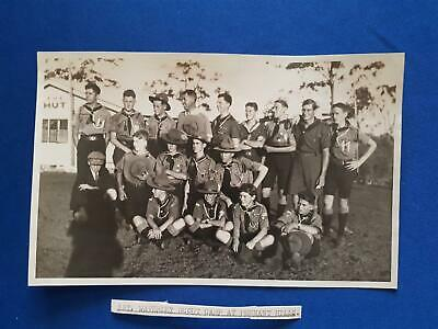 1928 Australia Boys Scouts 1`st Waverley Scout Camp Pennant Hills Real Photo