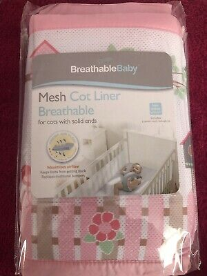 New breathable baby 2 Sided Mesh Cot Bumper - English garden
