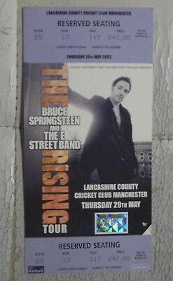 Bruce Springsteen & THE E STREET Band Seated ticket stub Manchester 29 May 2003