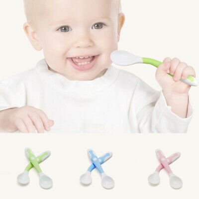 US 1Pc Baby Soft Silicone Feeding Spoons Infant Kids Learning Tableware Utensils