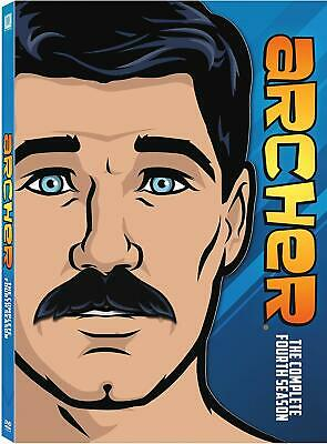 Archer Complete 4th Fourth Season Four DVD Set Series TV Show Episodes Comedy 4