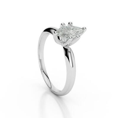 Certified 2.25 Ct Marquise Diamond Ring Genuine 18K White Gold Size 5.5 6.5 7 9