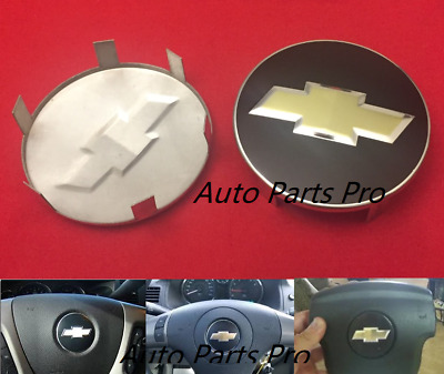 Chevy Bow Tie Black Emblem Badge Logo Drivers Side Steering Wheel Horn Cover