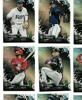 2019 Bowman Chrome Scouts TOP 100 pick # PROSPECTS card insert prospect rookie