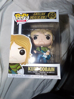 Funko Pop Vinyl Characters Kurt Cobain 2 Versions 65 66 Nirvana
