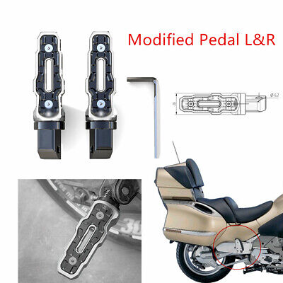2PCS Modified Rear Anti-Skid Widened Foot Rest Pedal For Motorcycle Motorbike