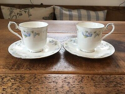 Bone China Royal Albert For All Seasons Morning Flower 2 Tea Cups And 2 Saucers