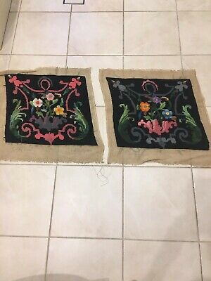 Two Worked and Completed Wool Tapestries
