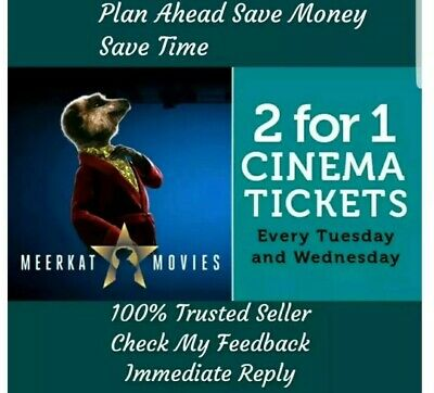Meerkat Movies Every Tuesday & Wednesday Email or Whatsapp