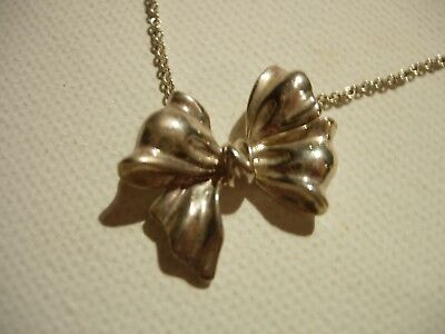 Tiffany & Co. vintage sterling silver bow necklace. RARE and Fab!