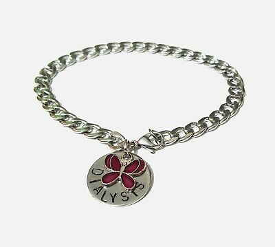 Medical Alert Warning SOS Bracelet Robust Stainless Steel Curb Chain & Charm