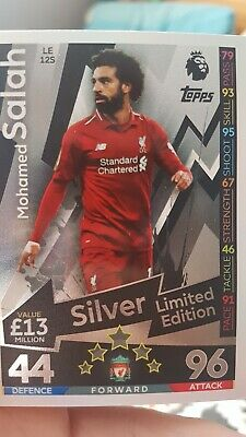Match Attax 2018/19 Mohamed Salah Liverpool Silver Limited Edition Le12S