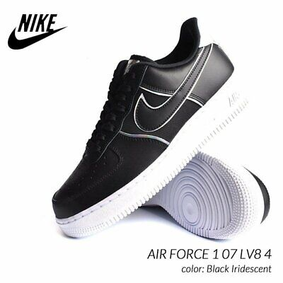 wholesale dealer 6e578 59e49 Nike Air Force 1  07 Lv8 4 Homme Chaussures Noires Irisé Outline 8 UK Eur