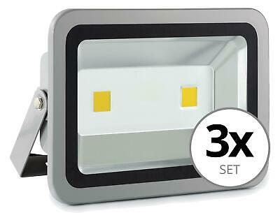 3x FOCO LED LUZ LAMPARA PROYECTOR PARED EXTERIOR 100W 50.000H A+ IP65 4500K SET
