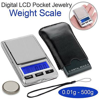 NEW 500g 0.01 DIGITAL POCKET SCALES JEWELLERY ELECTRONIC milligram micro mg OZ