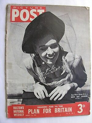 PICTURE POST January 18 1941 Somerset MaughamAdolf Hitler London Blitz Rescue