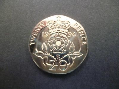 1994 Brilliant Uncirculated Twenty Pence Piece. 1994 20P Coin Uncirculated.