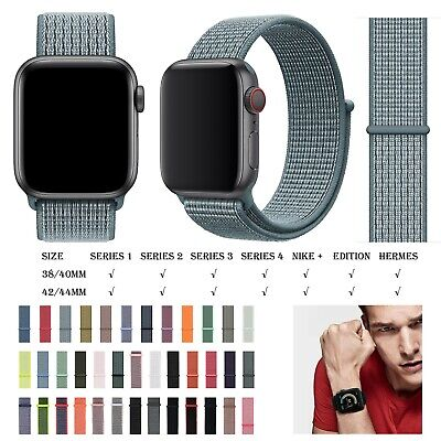Replacement Nylon Watch Strap for Apple Watch Series 4/3/2/1 42/44mm Watch Band