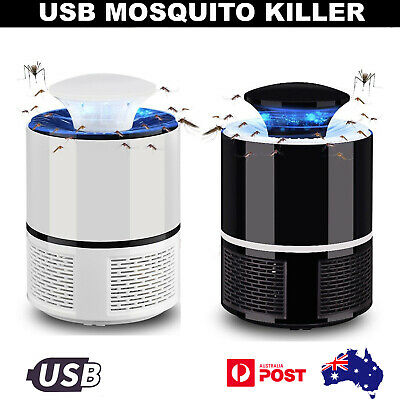 USB Mosquito Insect Killer Electric LED Lamp Light Fly Bug Trap Catcher AU