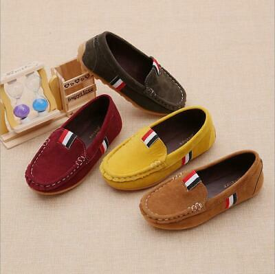 Children Boys Girl Kids Baby Plush Boat Sneaker Oxford Flat Casual Shoes Loafers