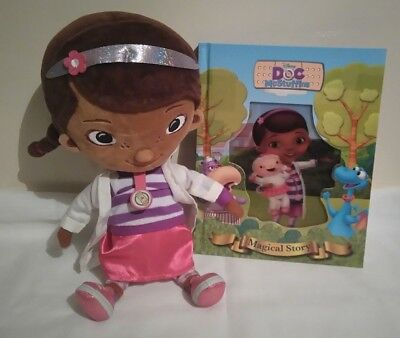 6fce9ff7886 Disney Store Junior Doc McStuffins Dottie Doctor Plush Soft Toy Figure Doll  Book