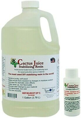 1 Gallon (3.79 L) Cactus Juice for Stabilizing by TurnTex Woodworks