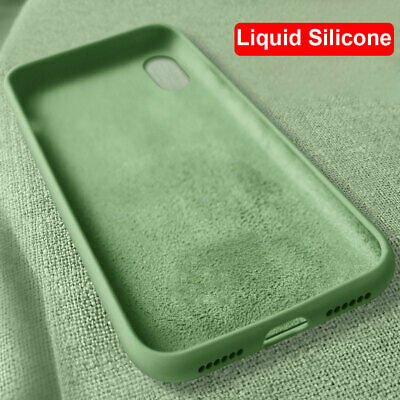 Slim Shockproof Liquid Silicone Case for iPhone XS Max XR X 6 6s 7 8 Plus Cover