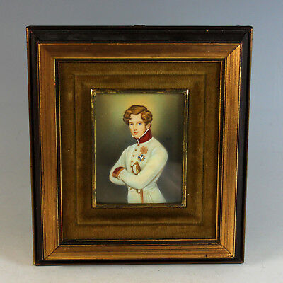 Miniature Portrait of the Son of Napoleon Bonaparte in Period Frame 19th C