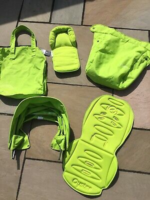 Babystyle Oyster 1 Lime Green Stroller Colour Pack Hood Apron Liner