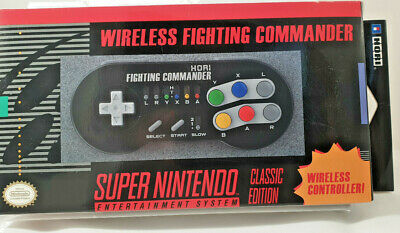 Hori Wireless Fighting Controller, Official SNES Mini Super Nintendo Classic NEW