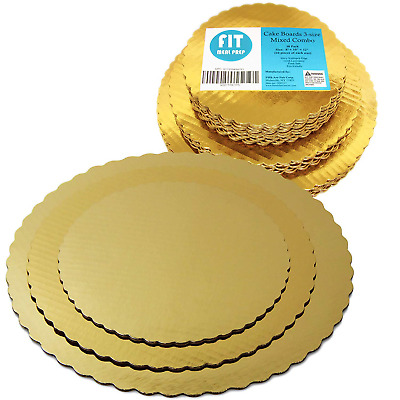 8 10 12 Inches Round Tierd Cake Boards Combo - Cardboard Disposable Layered Cake