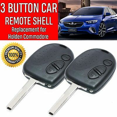 2X Holden Commodore 3 Button Car Remote Case/Shell Uncut Key VS VX VY VZ WH WK