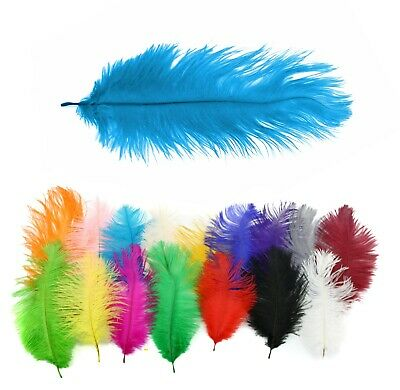 Large Long Ostrich Feathers Millinery Fascinator Hat Decoration Trimmings Craft