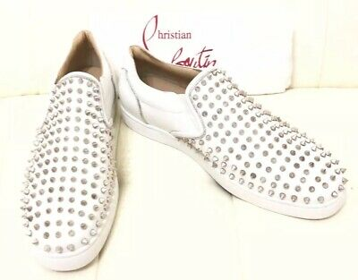d9bc9a9e981 NEW CHRISTIAN LOUBOUTIN Boat Slip-On Spike Sneakers shoes Sz 45 Us 12 $1295