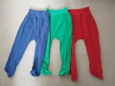 Unisex colourful Leggings With Feet. 9-12 Months