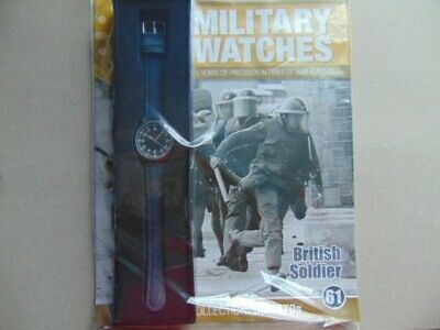 Military Watches Eaglemoss Collection British Soldier 1970  (61) Inc Mag.