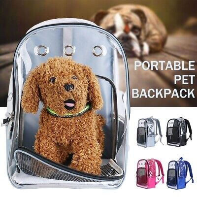 Puppy Cat Dog Backpack Breathable Travel Bag Carrier Space Capsule Transparent
